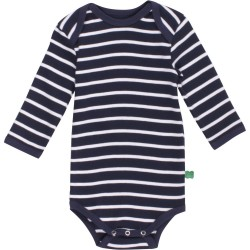 Fred`s World by Green Cotton - Bio Baby Body langarm mit Streifen