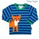 Toby tiger - Bio Baby Langarmshirt mit Tiger-Motiv und Streifen