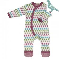 Pigeon - Bio Baby Strampler mit Wald-Motiv