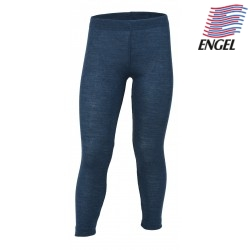 ENGEL - Bio Kinder Leggings, Wolle, ocean