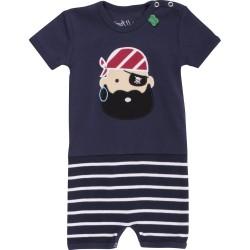 Fred`s World by Green Cotton - Bio Baby Spieler kurzarm mit Streifen und Pirat