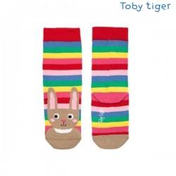 Toby tiger - Bio Kinder Socken mit Hasen und Streifen