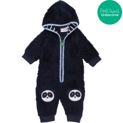 Fred`s World by Green Cotton - Bio Baby Fleece Overall mit Pandas