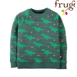 frugi - Bio Kinder Sweatshirt mit Dino-Motiv
