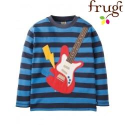 """frugi - Bio Kinder Langarmshirt """"Discovery"""" mit Gitarren-Motiv"""