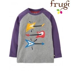 """frugi - Bio Kinder Langarmshirt """"Harry"""" mit Gitarren-Motiv"""