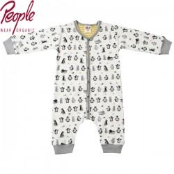People Wear Organic - Bio Baby Strampler mit Pinguin-Druck