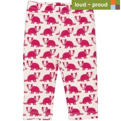 loud + proud - Bio Baby Leggings mit Dachs-Druck