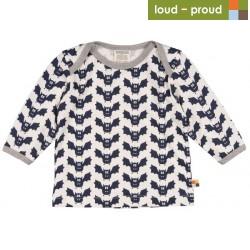 loud + proud - Bio Baby Langarmshirt mit Fledermaus-Druck