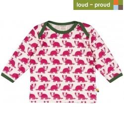 loud + proud - Bio Baby Langarmshirt mit Dachs-Druck