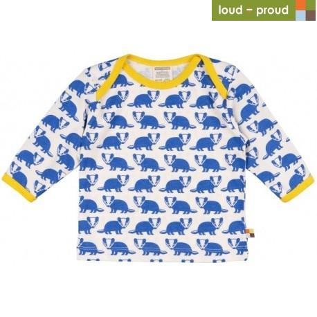 1272063b50a9 loud + proud - Bio Baby Langarmshirt mit Dachs-Druck - Naturzwerge ...