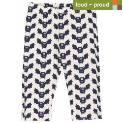 loud + proud - Bio Baby Leggings mit Fledermaus-Druck