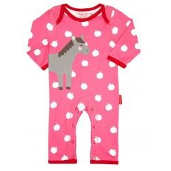 Toby tiger - Bio Baby Strampler mit Pferd-Motiv und Punkten
