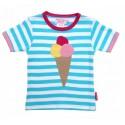Toby tiger - Bio Kinder T-Shirt mit Eis-Motiv und Streifen