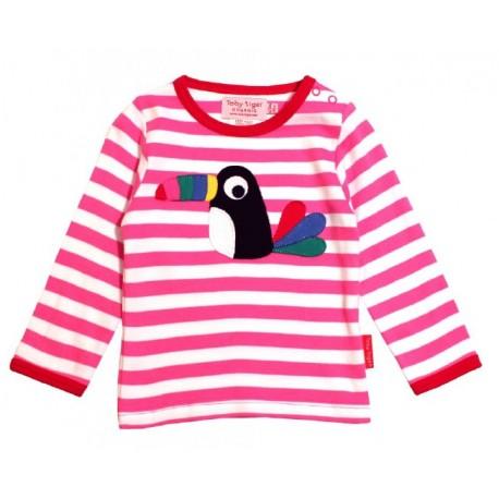 Toby tiger - Bio Baby Langarmshirt mit Toucan-Motiv
