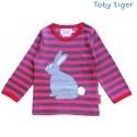 Toby tiger - Bio Baby Langarmshirt mit Hasen-Motiv und Streifen