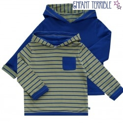 Enfant Terrible - Bio Kinder Wende Sweatshirt mit Streifen