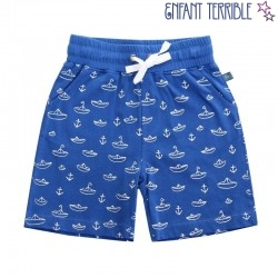 Enfant Terrible - Bio Kinder Shorts mit Boot-Motiven