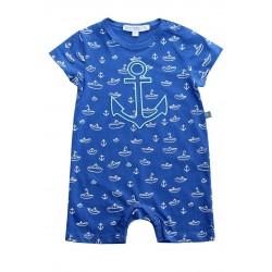 Enfant Terrible - Bio Baby Strampler mit Boote-Motiv