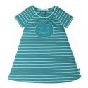 Enfant Terrible - Bio Kinder Shirtkleid mit Streifen und Katzentaschen