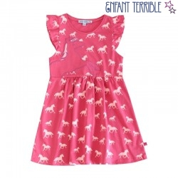 Enfant Terrible - Bio Kinder Shirtkleid mit Pferde-Motiv