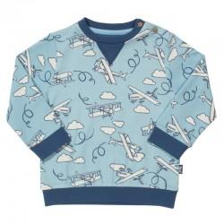 kite kids - Bio Kinder Sweatshirt mit Flugzeug-Motiv