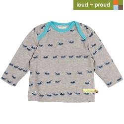 loud + proud - Bio Baby Langarmshirt mit Ameisen-Druck
