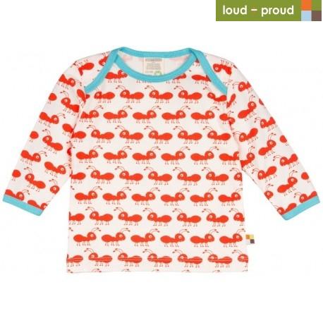 70279c9f16df loud + proud - Bio Baby Langarmshirt mit Ameisen-Druck - Naturzwerge ...