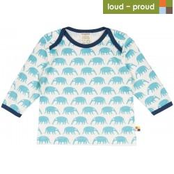 loud + proud - Bio Baby Langarmshirt mit Ameisenbär-Druck