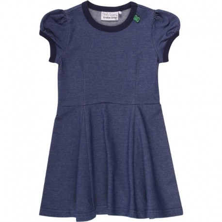 Fred`s World by Green Cotton - Bio Kinder Kleid in Jeans-Optik