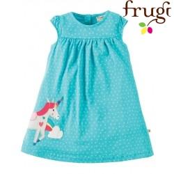 """frugi - Bio Baby Jersey Kleid """"Little Lola"""" mit Einhorn-Motiv und Punkten"""