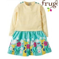 frugi - Bio Kinder Kleid mit Giraffen-Motiv und Streifen