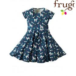 """frugi - Bio Kinder Jersey Kleid """"Spring"""" mit Einhorn-Motiv"""
