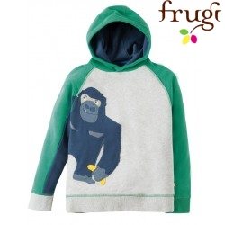 "frugi - Bio Kinder Sweatshirt ""Hedgerow"" mit Affen-Motiv"