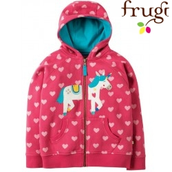 "frugi - Bio Kinder Sweatjacke ""Heather"" mit Einhorn-Motiv"