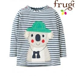 """frugi - Bio Baby Langarmshirt """"Everest"""" mit Koala-Motiv und Streifen"""