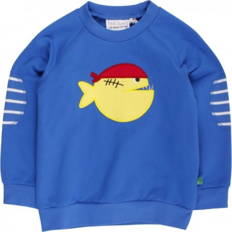 Fred`s World by Green Cotton - Bio Kinder Sweatshirt mit Piranha