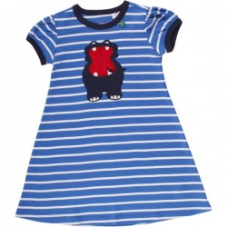Fred`s World by Green Cotton - Bio Kinder Kleid mit Nilpferd-Motiv