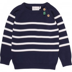 Fred`s World by Green Cotton - Bio Kinder Strick Pullover mit Streifen