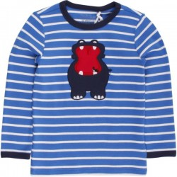 Fred`s World by Green Cotton - Bio Kinder Langarmshirt mit Nipferd-Motiv