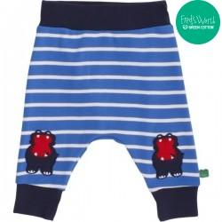 Fred`s World by Green Cotton - Bio Baby Sweathose mit Nilpferd-Motiv