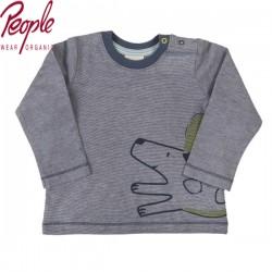 People Wear Organic - Bio Baby Langarmshirt mit Hunde-Motiv