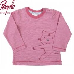 People Wear Organic - Bio Baby Langarmshirt mit Katzen-Motiv