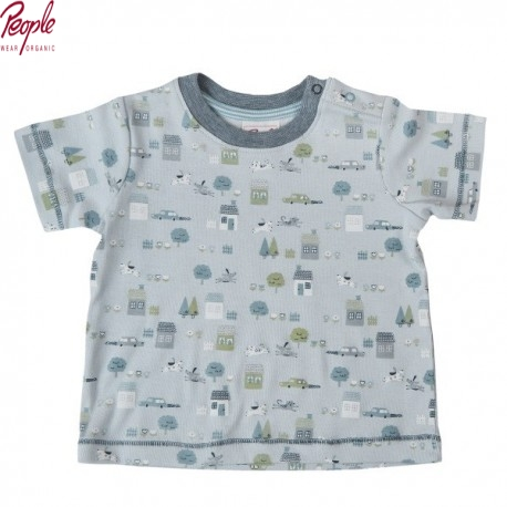 People Wear Organic - Bio Baby T-Shirt mit Hunde-Allover