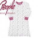 People Wear Organic - Bio Kinder Nachthemd mit Vogel-Motiv