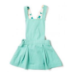 Little Green Radicals - Bio Kinder Latzkleid, türkis