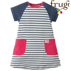 """frugi - Bio Kinder Jersey Kleid """"Hop Scotch"""" mit Streifen"""