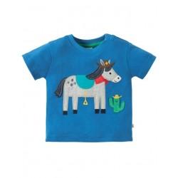 """frugi - Bio Baby T-Shirt """"Little Creature"""" mit Pferde-Motiv"""