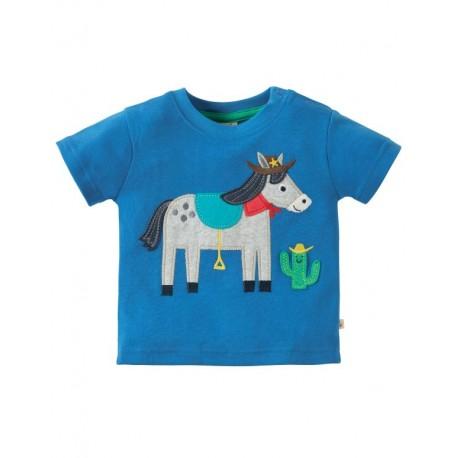 """frugi - Bio Baby T-Shirt""""Little Creature"""" mit Pferde-Motiv"""