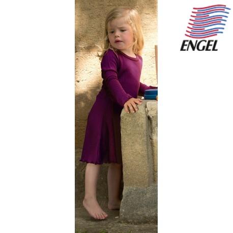 991c5a5572 ENGEL - Bio Kinder Nachthemd, Wolle/Seide, orchidee - Naturzwerge ...